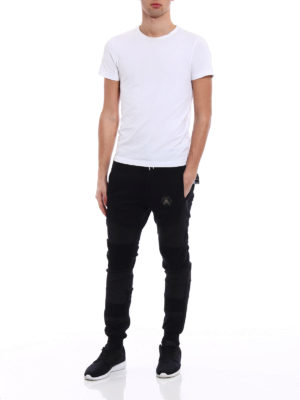 Philipp Plein: tracksuit bottoms online - I See Fire black jogging trousers
