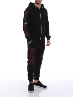 Philipp Plein: tracksuit bottoms online - Motivation cotton tracksuit bottom