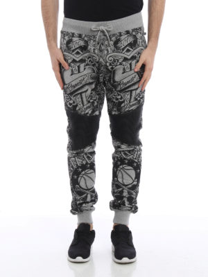 Philipp Plein: tracksuit bottoms online - Puce jogging trousers