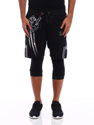 Philipp Plein: tracksuit bottoms online - Reflect Plein Sport short pants