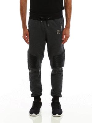 Philipp Plein: tracksuit bottoms online - Shaka biker style jogging pants