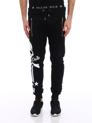 Philipp Plein: tracksuit bottoms online - Status cotton tracksuit bottom