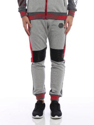 Philipp Plein: tracksuit bottoms online - Tecnic biker style jogging pants