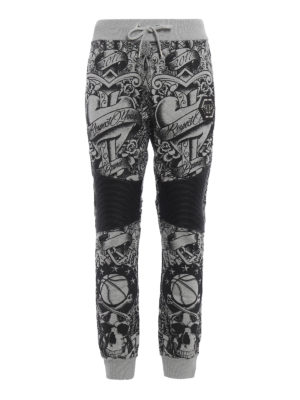 Philipp Plein: tracksuit bottoms - Puce jogging trousers