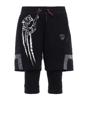 Philipp Plein: tracksuit bottoms - Reflect Plein Sport short pants