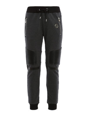Philipp Plein: tracksuit bottoms - Shaka biker style jogging pants