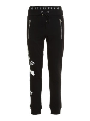 Philipp Plein: tracksuit bottoms - Status cotton tracksuit bottom
