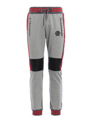 Philipp Plein: tracksuit bottoms - Tecnic biker style jogging pants