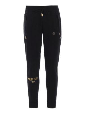 PHILIPP PLEIN: pantaloni sport - Pantaloni della tuta Well con decorazioni