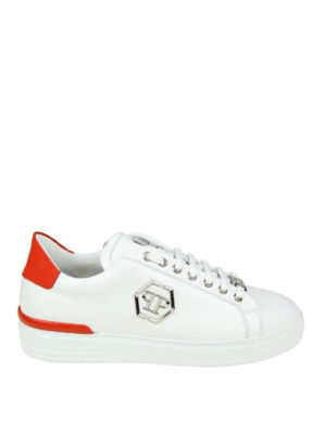 Philipp Plein: trainers - Caribou white leather sneakers