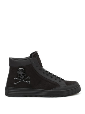 Philipp Plein: trainers - Days leather high top sneakers