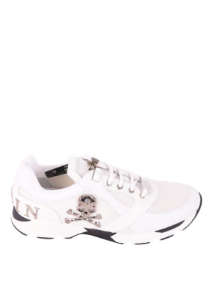 Philipp Plein: trainers - Lion leather and mesh runners