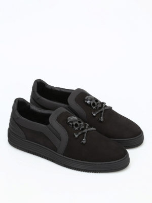 Philipp Plein: trainers online - Blows leather slip-ons