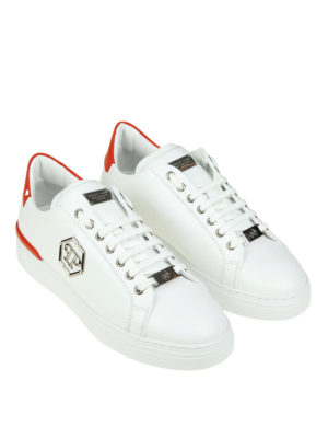 Philipp Plein: trainers online - Caribou white leather sneakers