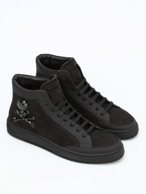 Philipp Plein: trainers online - Days leather high top sneakers