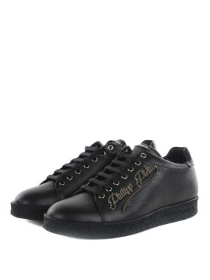 Philipp Plein: trainers online - One Hundread metal logo sneakers