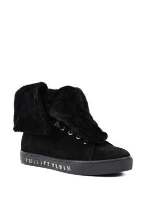 Philipp Plein: trainers online - Pinki wool trimmed sneakers