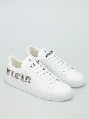 Philipp Plein: trainers online - Play leather sneakers