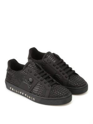 Philipp Plein: trainers online - Talk Slow faux leather sneakers