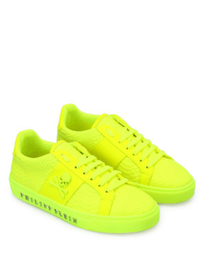 Philipp Plein: trainers online - Talk slow fluo yellow sneakers