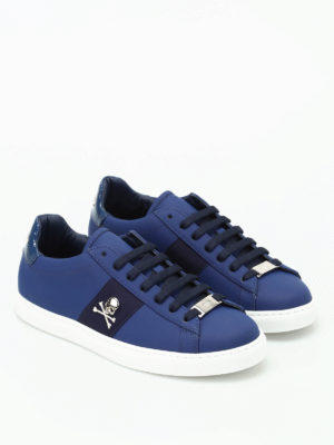 Philipp Plein: trainers online - Welcome embellished napa sneakers