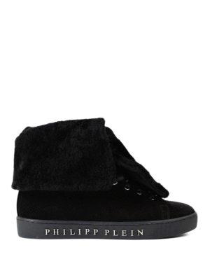 Philipp Plein: trainers - Pinki wool trimmed sneakers