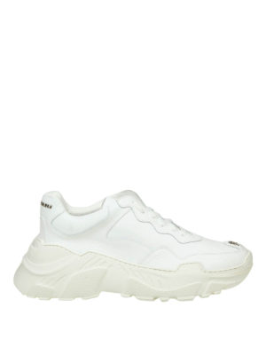 PHILIPP PLEIN: sneakers - Sneaker Runner Original in pelle bianca