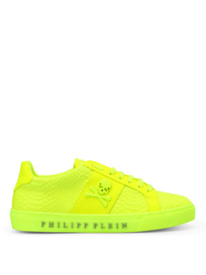 Philipp Plein: trainers - Talk slow fluo yellow sneakers