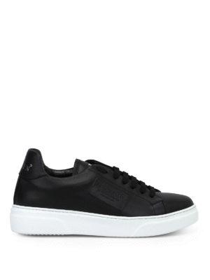 PHILIPP PLEIN: sneakers - Sneaker basse Tom in pelle nera