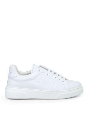 PHILIPP PLEIN: sneakers - Sneaker basse Tom in pelle bianca