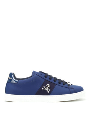 Philipp Plein: trainers - Welcome embellished napa sneakers