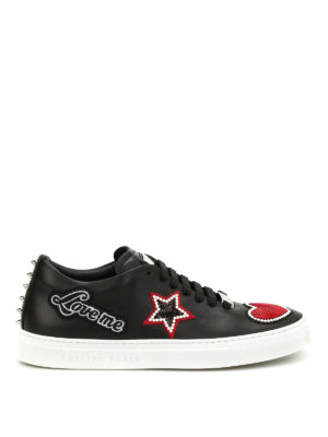 Philipp Plein: trainers - Wright patches and studs sneakers