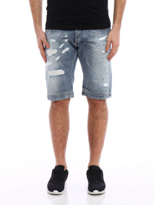 Philipp Plein: Trousers Shorts online - Fake Friend denim shorts