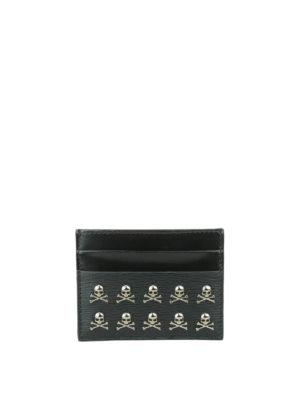 Philipp Plein: wallets & purses - Mikael leather card holder