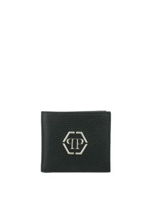 Philipp Plein: wallets & purses - Mitzrael leather wallet with logo