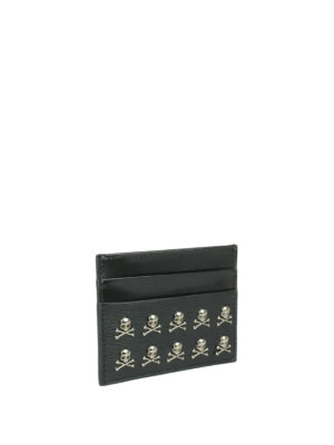 Philipp Plein: wallets & purses online - Mikael leather card holder