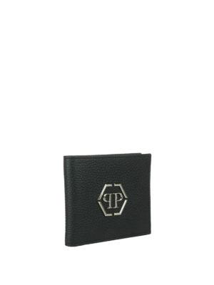 Philipp Plein: wallets & purses online - Mitzrael leather wallet with logo