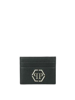 Philipp Plein: wallets & purses - Umabel leather card holder