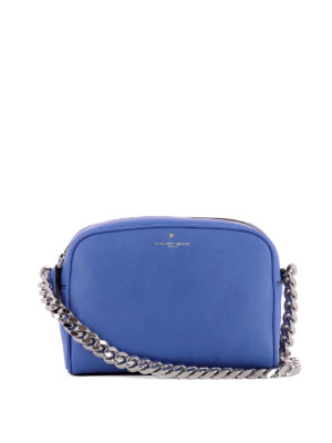 Philippe Model: cross body bags - Laval blue calfskin cross body bag