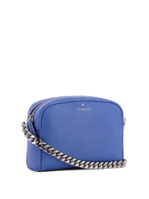 Philippe Model: cross body bags online - Laval blue calfskin cross body bag