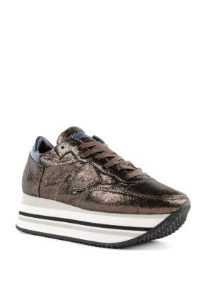 PHILIPPE MODEL: sneakers online - Sneaker con plateau Eiffel in pelle bronzo