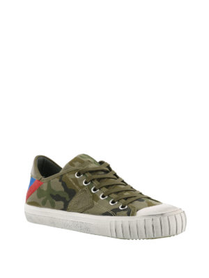 PHILIPPE MODEL: sneakers online - Sneaker Gare in canvas camouflage