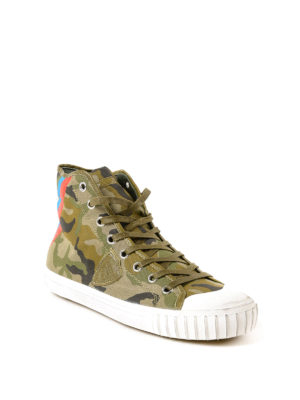 PHILIPPE MODEL: sneakers online - Sneaker Gare in canvas mimetico