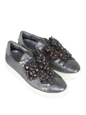 PHILIPPE MODEL: sneakers online - Sneaker Madeleine con decorazione Swarovski