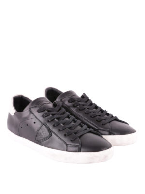 PHILIPPE MODEL: sneakers online - Sneaker Paris Basic nere talloncino bianco