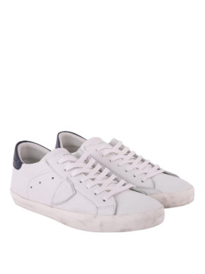 PHILIPPE MODEL: sneakers online - Sneaker Paris Basic in pelle bianca e blu