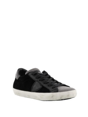 PHILIPPE MODEL: sneakers online - Sneaker Paris basse in suede grigio e nero