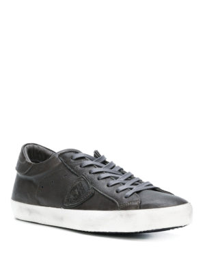 PHILIPPE MODEL: sneakers online - Sneaker Paris in pelle nera lucida