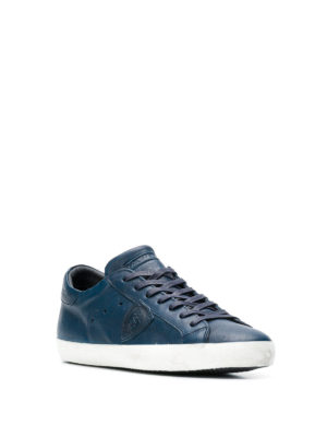PHILIPPE MODEL: sneakers online - Sneaker Paris in pelle lucida bluette