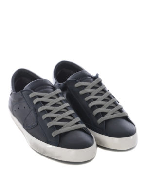PHILIPPE MODEL: sneakers online - Sneaker Paris in pelle blu scuro